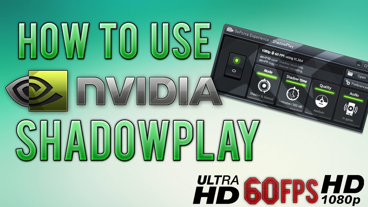 how to make shadowplay not record discord