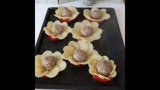 Картофель с мясными шарикамив духовке! Оригинальная идея ужина!