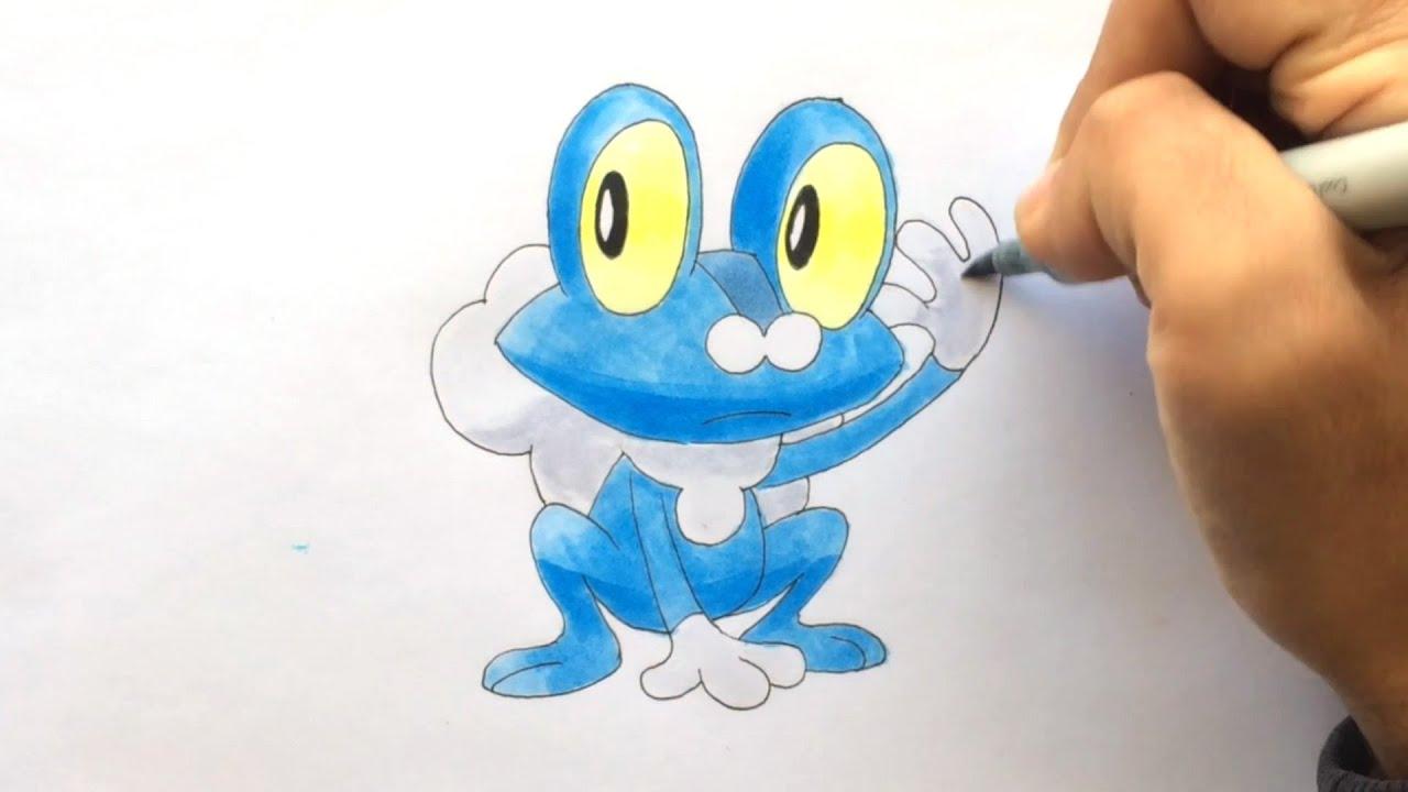 How To Draw FroxyFroakieGrenousse Pokemon XY No