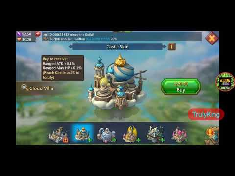 Lords-Mobile | NEW Castle Skin Cloud Villa (Ranged Hp/atk)