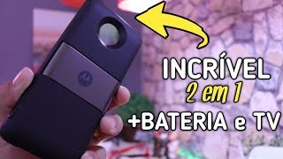 OLHA o NOVO Lançamento da Motorola 2 em 1 Snap Tv e Bateria - UNBOXING