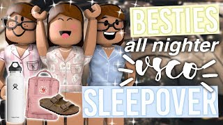 Besties All Nighter VSCO Sleepover | Roblox Bloxburg Roleplay | alixia