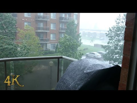 Montreal: Strong wind gusts hit condos during intense rainstorm 8-22-2017