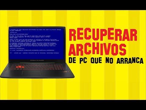 Cmo Recuperar archivos borrados de una Computadora Daada o que no arranca
