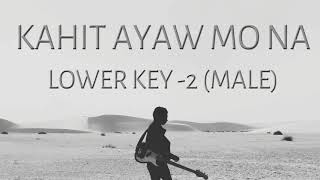 Kahit Ayaw Mo Na Male Key Instrumental by This Band