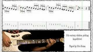 Impellitteri - 17th century chicken picking cover + lesson - Otto Reina (Cali - Colombia)