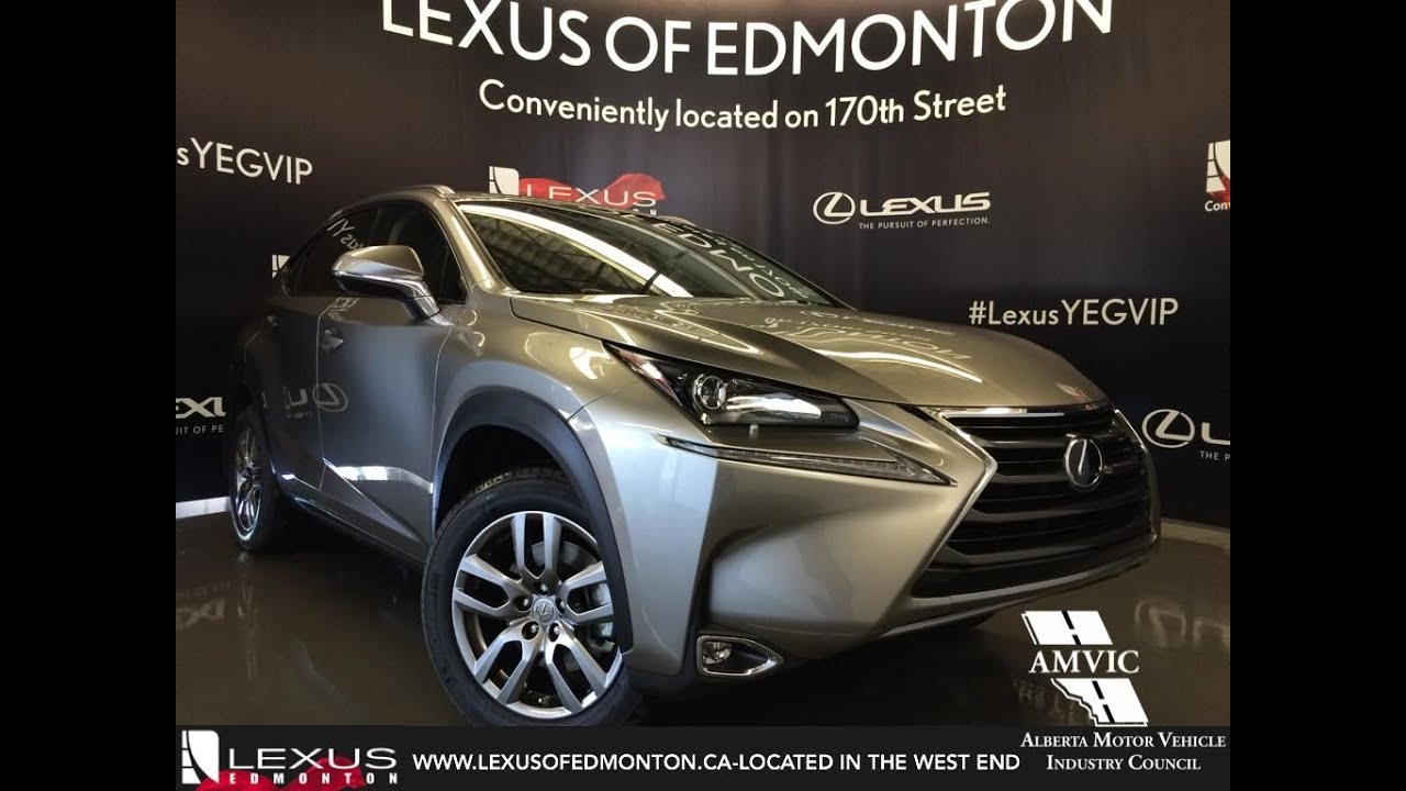 2016 Atomic Silver Lexus NX 200t AWD Premium Review   Downtown Edmonton Alberta - YouTube