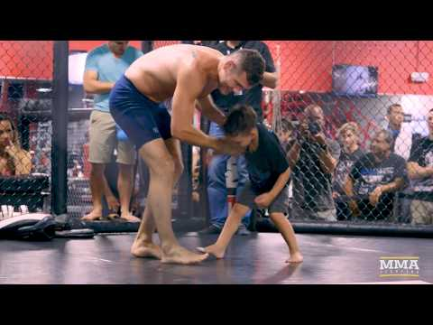 Chris Weidman's Kids Crash UFC on FOX 25 Open Workouts - MMA Fighting