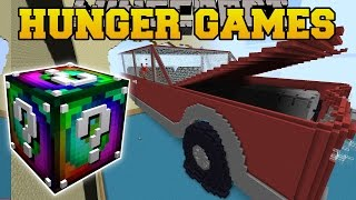 Minecraft: CAR CRASH HUNGER GAMES - Lucky Block Mod - Modded M…