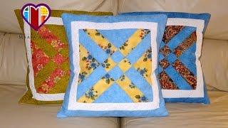 Almofadas em patchwork As flexas – Maria Adna Ateliê