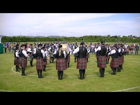 ST JOSEPH'S PIPE BAND AT THE BRITISH PIPE BAND CHAMPIONSHIPS 2018