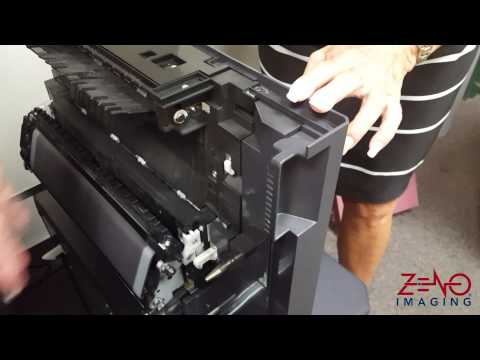 Kyocera TASKalfa Misfeed Removal / Various Locations - YouTube