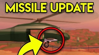 SHOOTING PLAYERS WITH MISSILES! NEW SURPRISE UPDATE! (ROBLOX JAILBREAK)