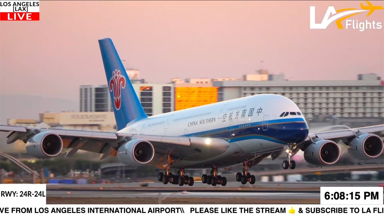 Download JOIN US! 🔴LIVE Plane Spotting ACTION at Los Angeles International Airport