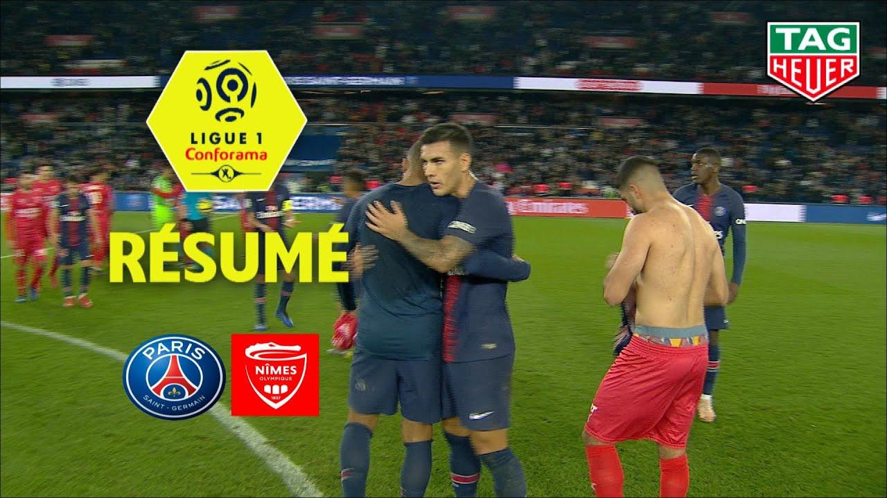Paris Saint Germain Nimes Olympique 3 0 Resume Paris Nimes 2018 19 Youtube