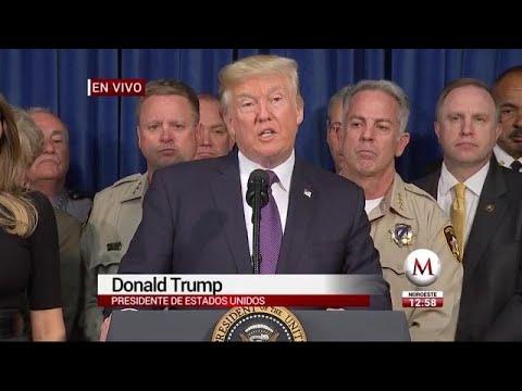 No hablaré sobre control de armas: Trump en Las Vegas