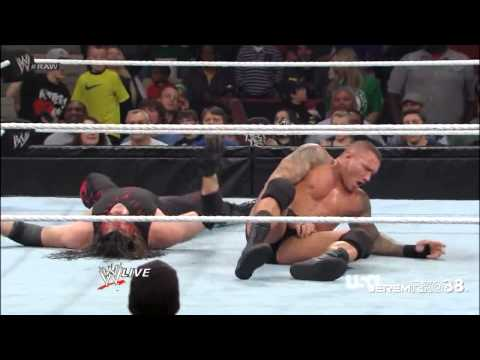 Randy Orton RKO on Kane - Raw - February 18, 2013