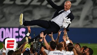 Real Madrid winning <b>La Liga</b> this season is very special for Zinedine ...