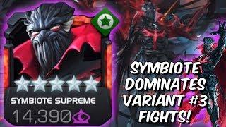 Symbiote Supreme Dominates Variant #3 Fights! - Mystic God Tier - Marvel Contest of Champions