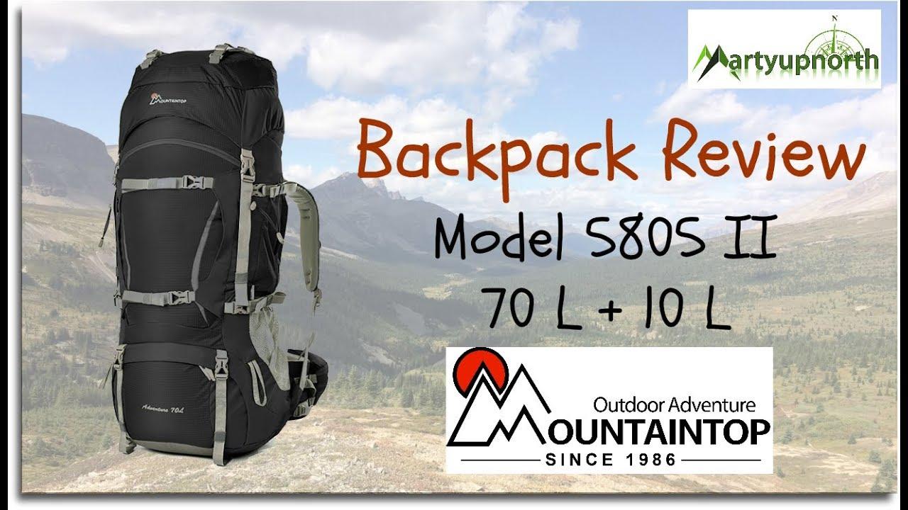 viele modisch erstaunlicher Preis Online gehen Review of Mountaintop Outdoor Adventure's 70 L + 10 L Backpack