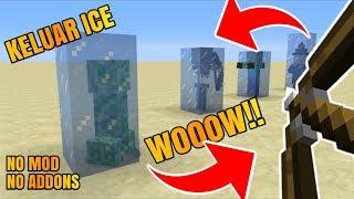 WOW!! TERBONGKAR CARA MEMBUAT PANAH ICE DI MINECRAFT PE NO MOD/ADDONS 1.2/1.3