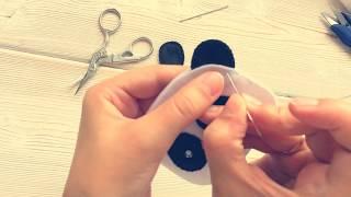 Як вшити елемент (вухо, лапу, і т. д.) між деталями з фетру петельним швом