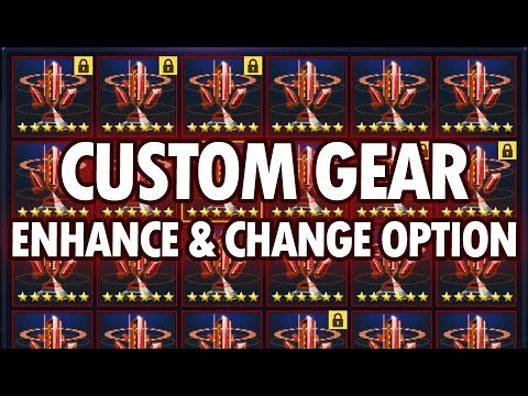 Custom Gear Enhancing + Change Option - MARVEL Future Fight