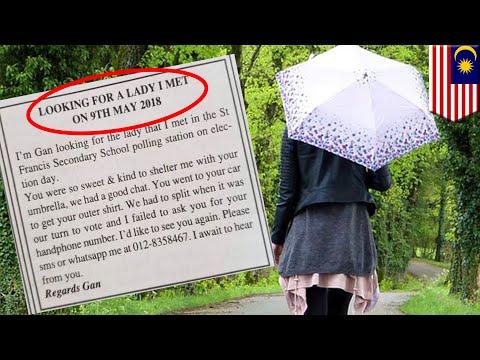Romantis! Pria pasang iklan baris cari wanita yang berbagi payung dengannya - TomoNews