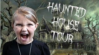 HAUNTED HOUSE TOUR!! | SO SCARY!!