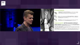 """Matt morawski (business development officer & co-founder, deep cube) speaks about """"ai technologies for healthcare diagnosis in real time"""" at hub.berlin on ap..."""