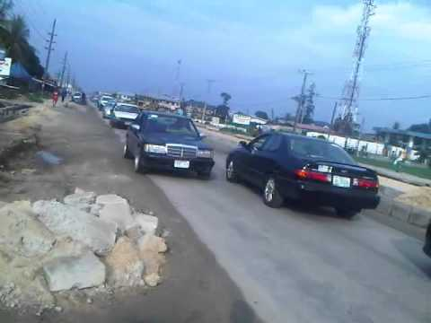Refinary Road Warri under Construction