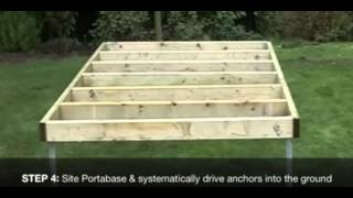 Building A Shed, How To Build A Shed Base   Shed Plans With Shed Blueprints