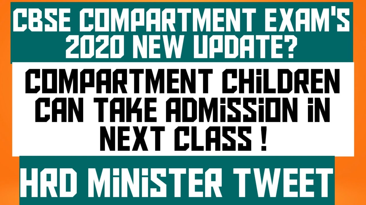 CBSE compartment Exam's 2020 Should cancel/How compartment students can take admission in next class