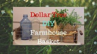 Dollar Tree Farmhouse Wire Basket DIY