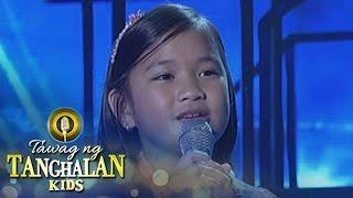 Tawag ng Tanghalan Kids: Kate Campo | Hulog Ng Langit