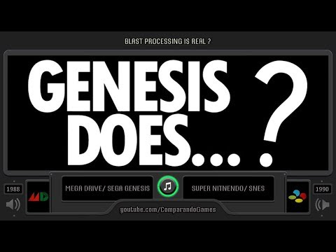 Blast Processing is Real ? (Sega Genesis vs SNES) Side by Side Comparison thumbnail