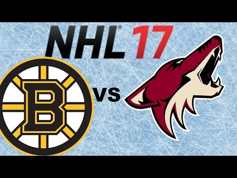 NHL 17 Xbox One Boston Bruins Vs Arizona Coyotes Full Game