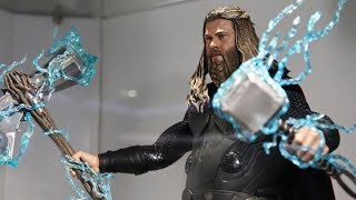 """First Look! Hot Toys- Avengers: Endgame """"Thor"""" (Fat Thor) 1/6th Figure Prototype"""
