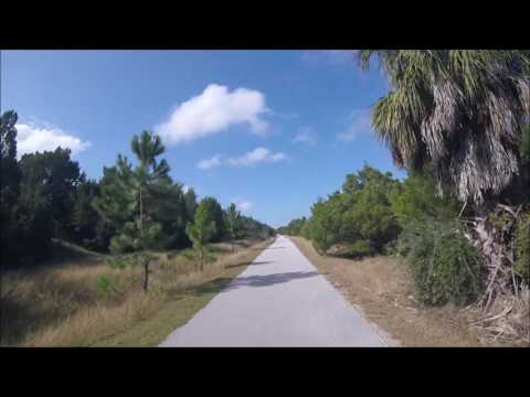 The Barge Canal by bicycle, near Inglis, Florida