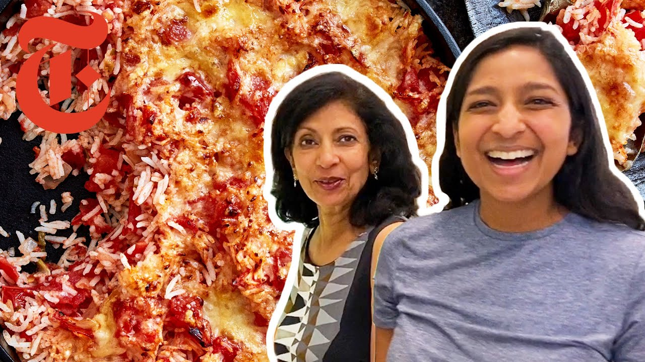 Download Priya and Her Mom's Cheesy Tomato Rice | Cook #WithMe | NYT Cooking