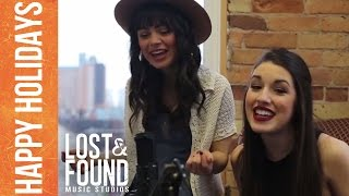 "Alyssa & Sarah (Maggie & Rachel) Sing You ""Jingle Bells"" // Lost & Found Music Studios"