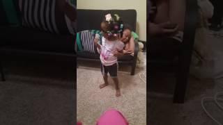 2 year old Aaliyah Juju on that beat