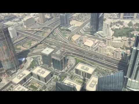 A quick view on Dubai Roads from Burj Khalifa