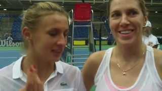 Комментарии Ольги Савчук и Леси Цуренко после решающего парного матча