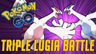 TRIPLE LUGIA RAID TRAIN AT EX GYMS - Pokémon GO