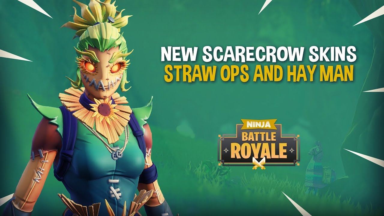 NEW Scarecrow Skins!! Straw Ops & Hay Man - Fortnite Battle Royale Gameplay - Ninja