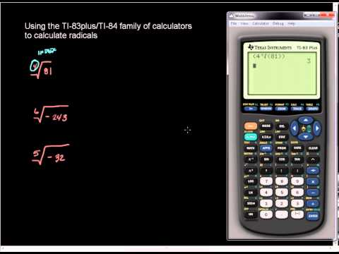 Higher Order Roots on the TI-83plus and TI-84 family of Calculators