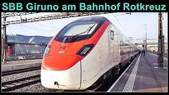 Switzerland Stadler Rail / Ankunft und Abfahrt eines SBB RABe 501 (Giruno) am Bahnhof in Rotkreuz