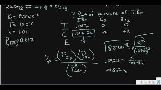 Equilibrium Part 6 Ice Table With Kp Problem