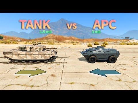 GTA V - Tank vs APC